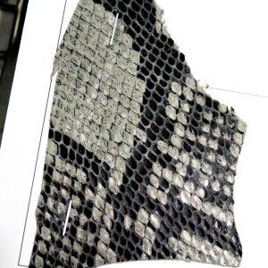 photo of foil leather ( Black Mamba )